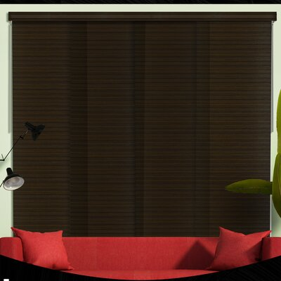 Deluxe Adjustable Sliding Panel Vertical Blind Color: Tuscany Black