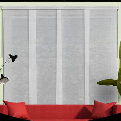 Sliding Panel Room Darkening Vertical Blind Color: Veil White