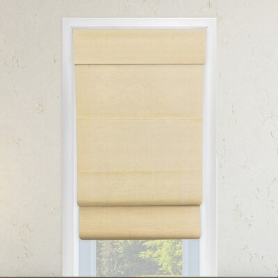 Cordless Double Layered Roman Shade Size: 27 W x 64 L