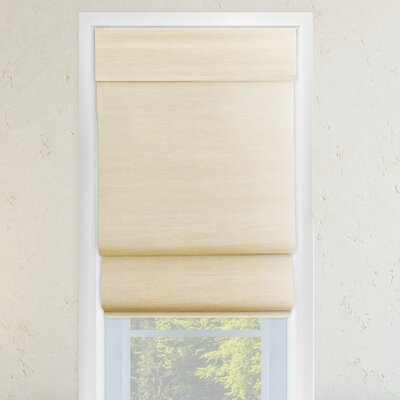 Cordless Double Layered Roman Shade Size: 36 W x 64 L