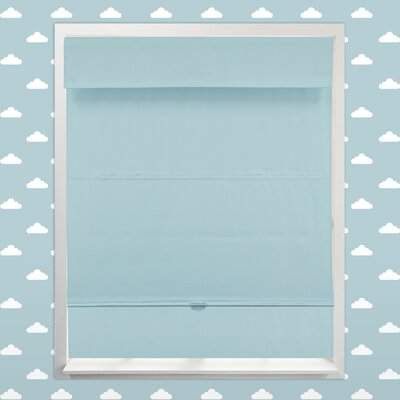 Cordless Magnetic Thermal Roman Shade Size: 36 W x 64 H, Color: Baby Blue (Thermal)