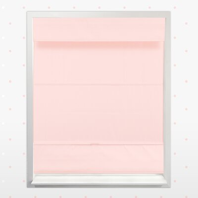 Cordless Magnetic Thermal Roman Shade Size: 36 W x 64 H, Color: Rose Pink