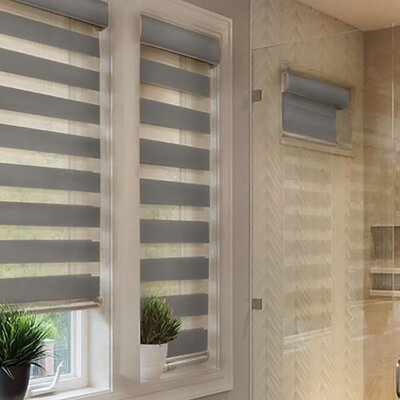 Striped Granite Free-Stop Cordless Pleated Shade Size: 34 W x 72 H