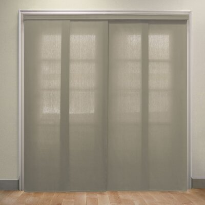 Deluxe Adjustable Sliding Panel Vertical Blind Color: Taupe
