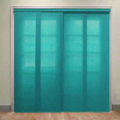 Deluxe Adjustable Sliding Panel Vertical Blind Color: Allure Ultramarine