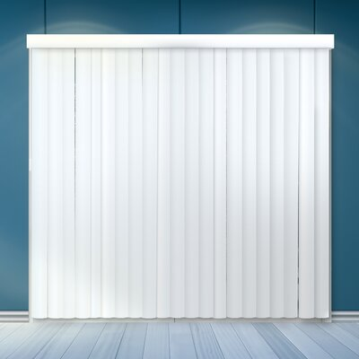 Cordless Vertical Blind Color: Cascading White