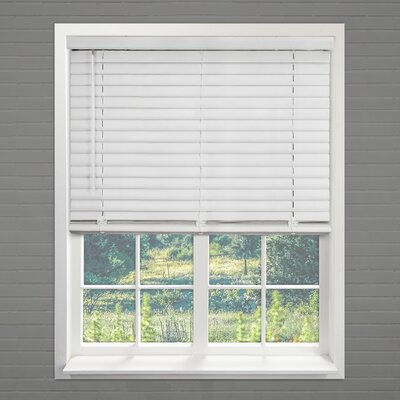 Cordless Vinyl Pickled Oak Horizontal/Venetian Blind Size: 35
