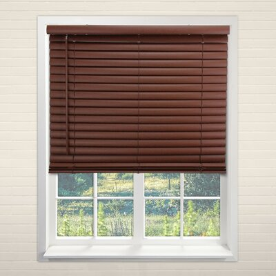 Cordless Vinyl English Chestnut Horizontal/Venetian Blind Size: 43 W x 64 H