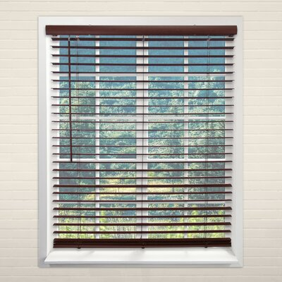 Cordless Vinyl English Chestnut Horizontal/Venetian Blind Size: 36