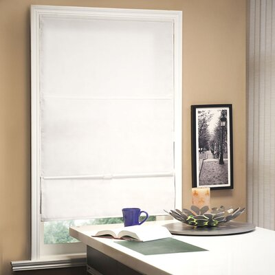 Cordless Magnetic Roman Shade Size: 35 W x 64 L, Color: Powder