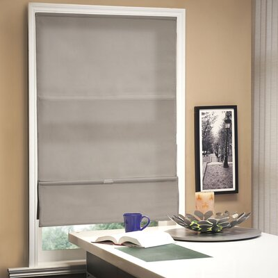 Cordless Magnetic Roman Shade Size: 48 W x 64 L, Color: Allure Taupe (Privacy & Light Filtering)