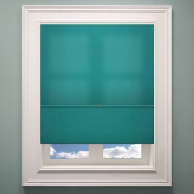 Cordless Magnetic Roman Shade Size: 35 W x 64 L, Color: Ultramarine