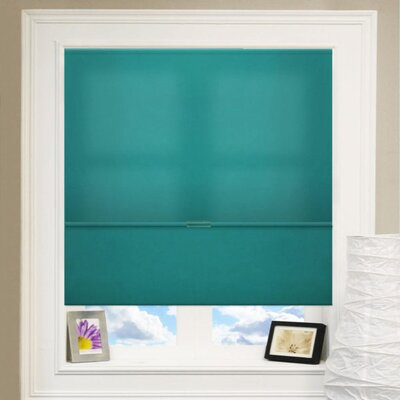Cordless Magnetic Roman Shade Size: 39 W x 64 L, Color: Allure Ultramarine (Privacy & Light Filtering)
