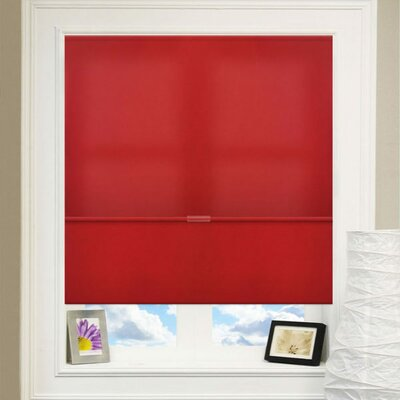 Cordless Magnetic Roman Shade Size: 33 W x 64 L, Color: Crimson