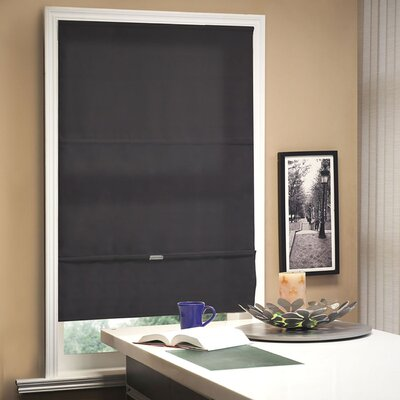 Cordless Magnetic Roman Shade Size: 39 W x 64 L, Color: Granite