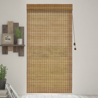 Bamboo Semi-Sheer Roman Shade Blind Size: 29 W x 64 L