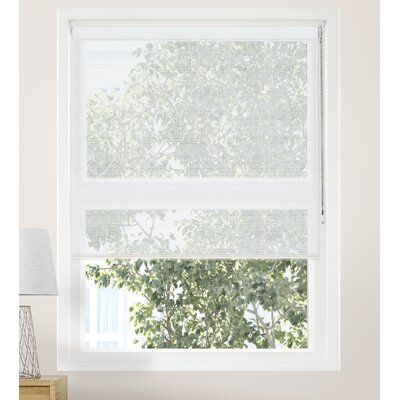 Continuous Loop Beaded Chain Sheer Roller Shade Blind Size: 24W x 72L, Color: Cloud White (Solar)