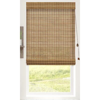 Textured Semi-Sheer Roman Shade Blind Size: 29W x 64L, Color: Squirrel