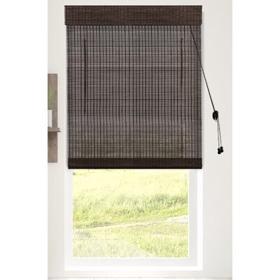 Textured Semi-Sheer Roman Shade Blind Size: 27W x 64L, Color: Treehouse