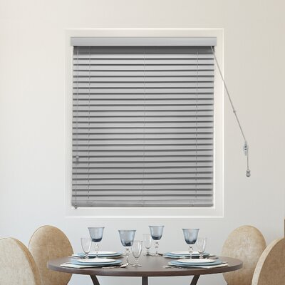 Blackout Horizontal/Venetian Blind Blind Size: 36W x 64L, Color: Simply Pewter