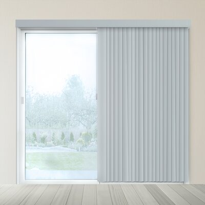 Cordless Vertical Blind Finish: Oxford Gray