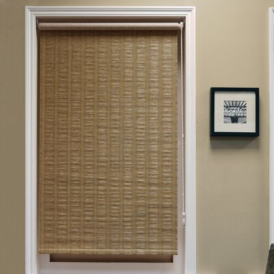 Chaves Continous Loop Privacy Roller Shade Color: Latte, Size: 27 W x 64 L