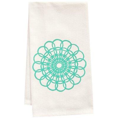 Organic Doily Block Print Tea Towel OWT-Doily