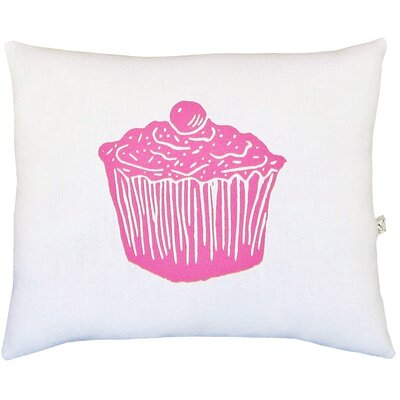 Cupcake Block Print Squillow Accent Cotton Throw Pillow