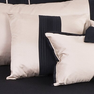 Tux Throw Pillow Color: Black with Pewter Band