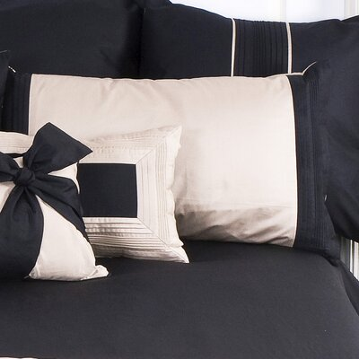 Tux Long Boudoir/Breakfast Pillow Color: Black with Pewter Band