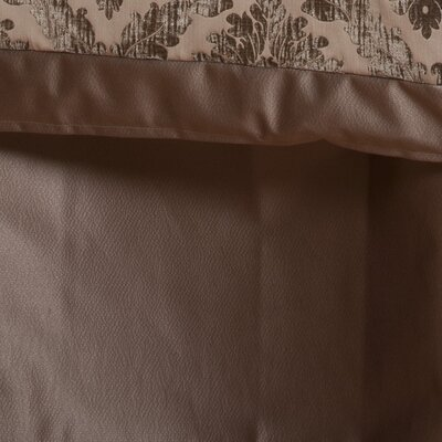Isadore Bed Skirt Fabric: Taupe, Size: King
