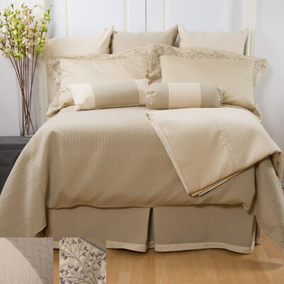 Lucca Duvet Cover Color: Vanilla, Size: Queen