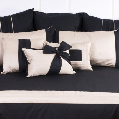 Tux Bow Throw Pillow Color: Black with Pewter Band