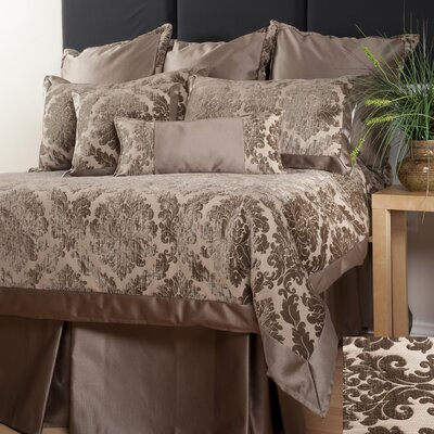 Isadore Duvet Cover Size: King, Fabric: Taupe