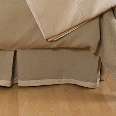 Lucca Bed Skirt Color: Vanilla, Size: Queen
