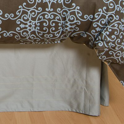 Logan Bed Skirt Size: Twin, Color: Espresso