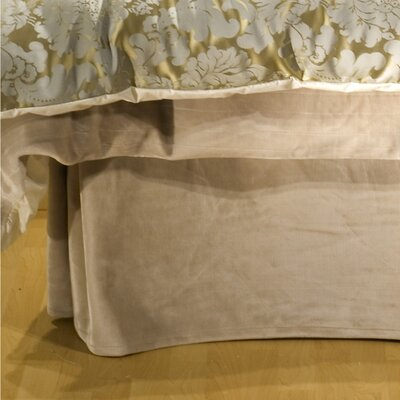 Louvre Bed Skirt Size: Queen, Fabric: Velour