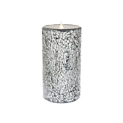 "Crackled Mosaic Unscented Flameless Candle Size: 6"" H x 3"" W x 3"" D EYQN5904 44337447"