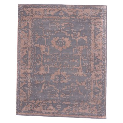 Tempest Hand-Tufted Gray Area Rug Rug Size: 4'9