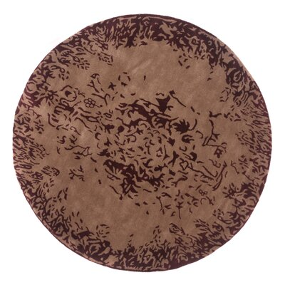 Tempest Hand-Tufted Sand Area Rug Rug Size: Round 79