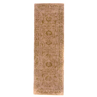 Tempest Hand-Tufted Bone Area Rug Rug Size: Runner 26 x 79