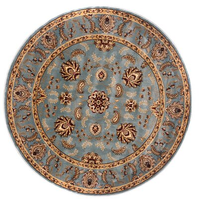 Brillante Blue Area Rug Rug Size: Round 57