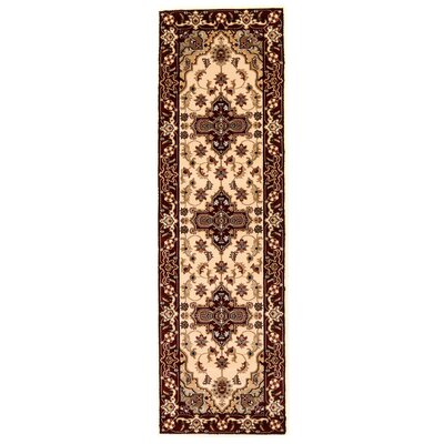 Brillante Cream/Red Area Rug Rug Size: Runner 23 x 76