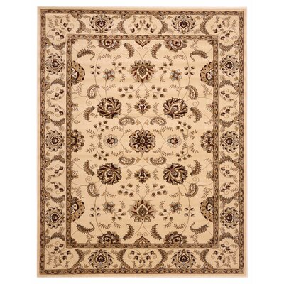 Brillante Cream Area Rug Rug Size: 411 x 78