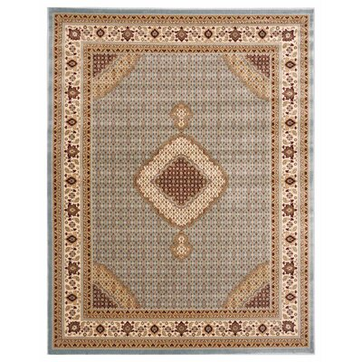Brillante Blue/Cream Area Rug Rug Size: 86 x 116