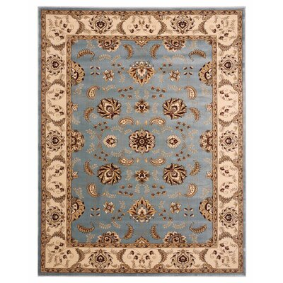 Brillante Blue/Cream Area Rug Rug Size: 33 x 411