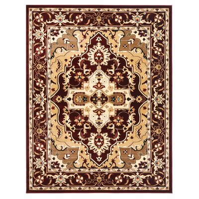 Brillante Cream/Red Area Rug Rug Size: 76 x 910