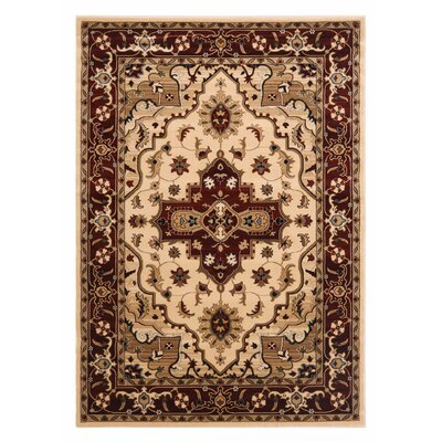 Brillante Cream/Red Area Rug