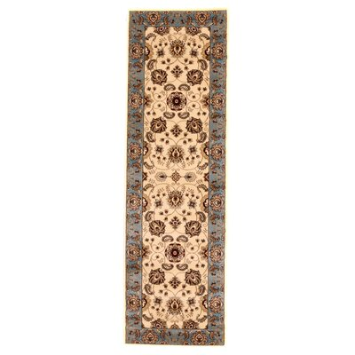 Brillante Cream/Blue Area Rug Rug Size: Runner 23 x 76
