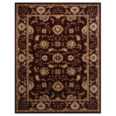 Brillante Burgundy Area Rug Rug Size: 86 x 116